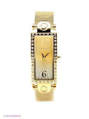 Часы Morgan. Цвет: золотистый