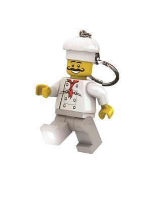 Брелок-фонарик для ключей LEGO Classic - Chef. Цвет: серый, желтый, белый