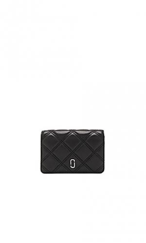 Компактный бумажник double j matelasse Marc Jacobs. Цвет: черный