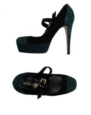 Туфли GIAMPAOLO VIOZZI. Цвет: темно-зеленый