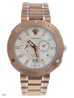 Часы Versace. Цвет: бронзовый