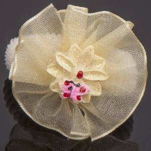 Резинки Цветок, арт. 14-025 Бусики-Колечки. Цвет: молочный