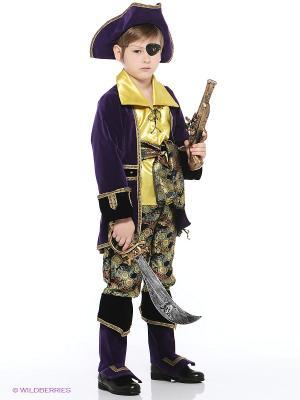 Карнавальный костюм Капитан пиратов Батик. Цвет: лиловый