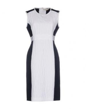 Платье до колена MANTÙ. Цвет: белый