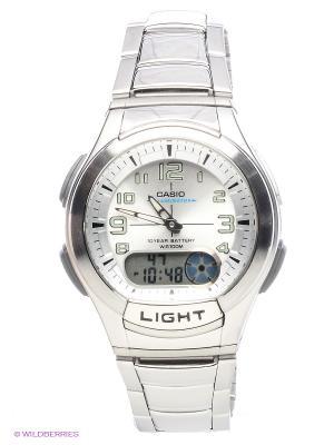 Часы Casio AQ-180WD-7B. Цвет: серебристый