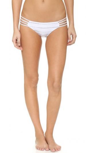 Плавки бикини с заплетенными колосом завязками по бокам Bettinis. Цвет: принт в полоску