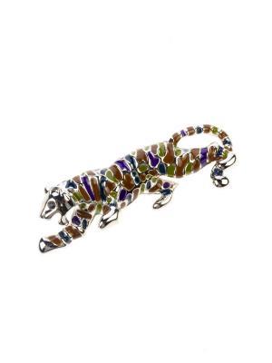 Брошь Bijoux Land. Цвет: серебристый, фиолетовый, синий, зеленый