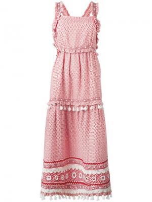 Платье с зигзагообразным узором Dodo Bar Or. Цвет: красный