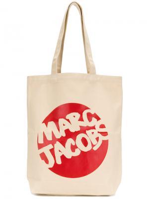 Парусиновая сумка Marc Jacobs. Цвет: телесный
