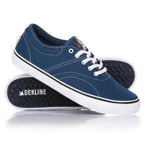 Кеды кроссовки низкие  Bixby Blue/White Cont Dekline. Цвет: синий