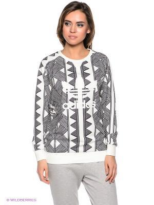 Джемпер MKX LOGO SWEAT Adidas. Цвет: молочный, черный