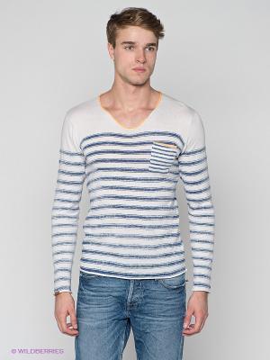 Пуловеры Japan Rags. Цвет: белый, темно-синий