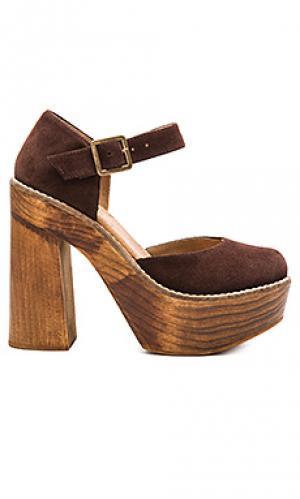 Туфли на каблуке poppy Freebird by Steven. Цвет: chocolate brown