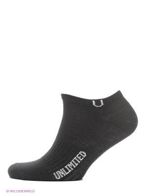 Носки спортивные 5 пар Unlimited. Цвет: черный