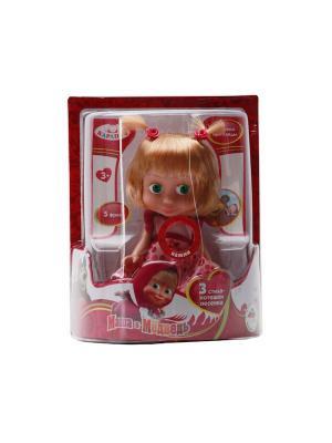 Кукла Карапуз Маша 15см (м/фМаша и медведь). Цвет: малиновый