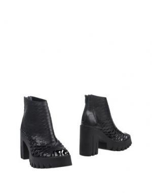 Полусапоги и высокие ботинки UNLACE. Цвет: черный