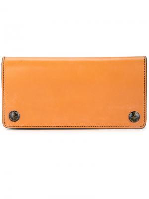 Складной бумажник Addict Clothes Japan. Цвет: жёлтый и оранжевый