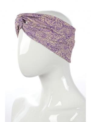 Повязка на голову Stayer. Цвет: темно-фиолетовый, бежевый