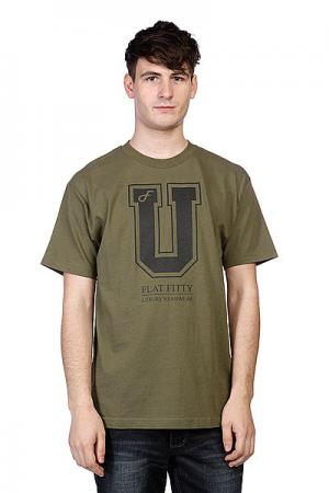 Футболка  Uni05 Army Flat Fitty. Цвет: зеленый