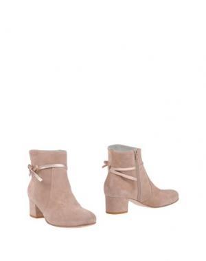 Полусапоги и высокие ботинки EMANUELA PASSERI. Цвет: телесный