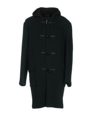 Пальто GLOVERALL. Цвет: темно-зеленый