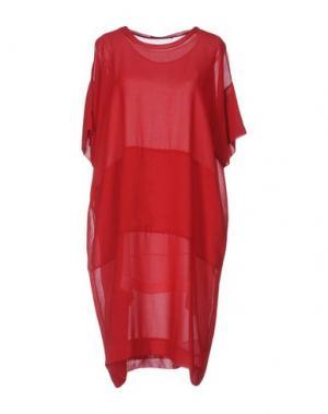 Платье до колена MARIA CALDERARA. Цвет: пурпурный