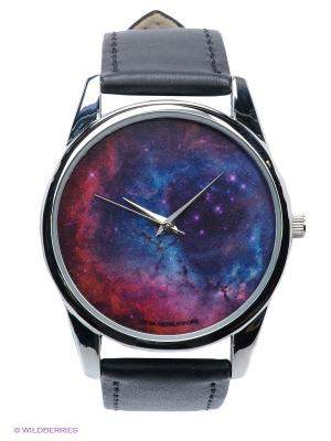 Часы Космос Mitya Veselkov. Цвет: черный, серебристый
