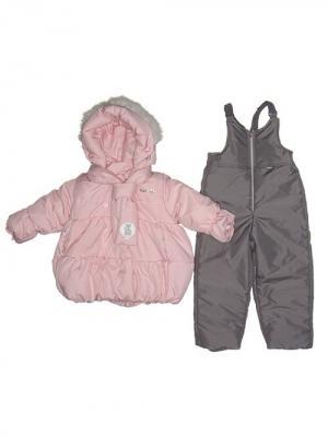 Куртка, полукомбинезон MaLeK BaBy. Цвет: розовый