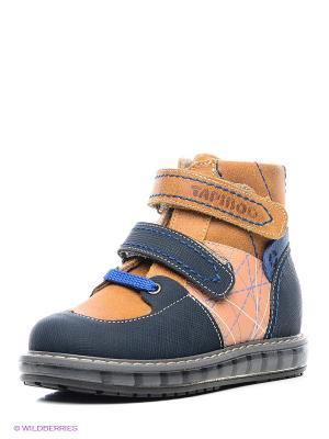 Ботинки TAPiBOO. Цвет: рыжий