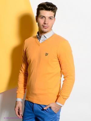 Пуловер Lyle&Scott. Цвет: оранжевый