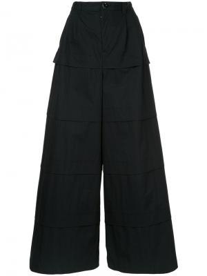 Ring Roll trousers Anrealage. Цвет: чёрный