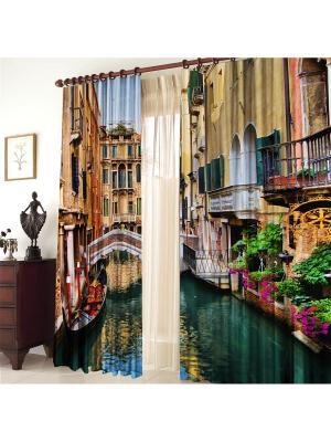Комплект фотоштор Венеция ZLATA KORUNKA. Цвет: коричневый