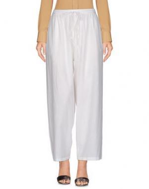 Повседневные брюки MES DEMOISELLES. Цвет: белый