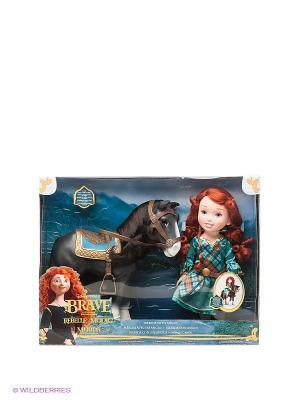 Игровой набор Мерида и конь Jakks. Цвет: черный, зеленый