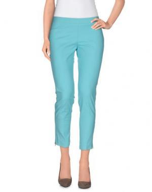 Повседневные брюки LUPATTELLI. Цвет: бирюзовый