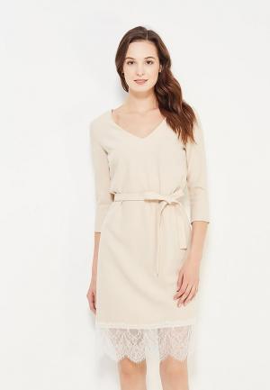 Платье Maria Golubeva. Цвет: бежевый