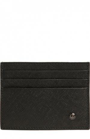 Футляр для кредитных карт Giorgio Armani. Цвет: черный