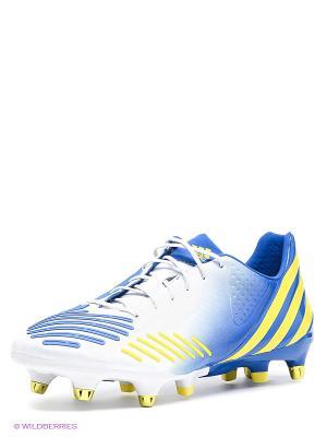 Бутсы Predator LZ XTRX SG Adidas. Цвет: синий, белый, желтый