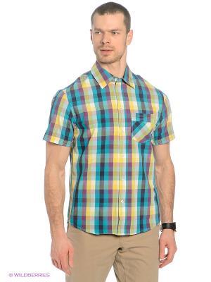 Рубашка Baon. Цвет: голубой, фиолетовый
