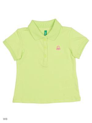 Футболка-поло United Colors of Benetton. Цвет: салатовый