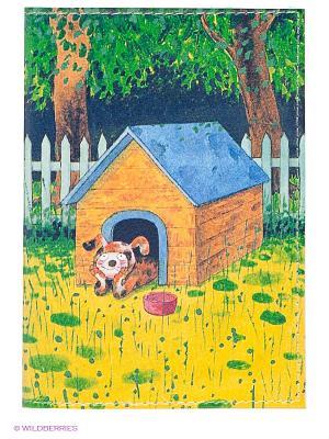 Обложка для паспорта Мечтающий пес в будке Mitya Veselkov. Цвет: желтый, зеленый
