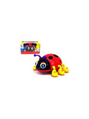 Игрушка детская Божья коровка со звуковыми и световыми эффектами HUILE. Цвет: красный, желтый, черный