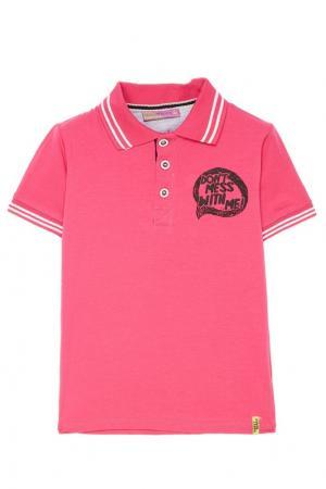 Розовое поло с надписью Sweet Berry. Цвет: розовый
