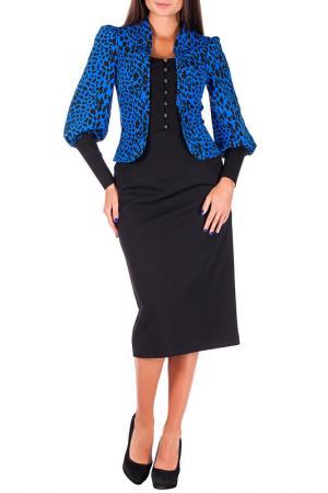 Комплект с юбкой Mannon. Цвет: черно-синий