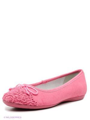 Балетки KEDDO. Цвет: розовый
