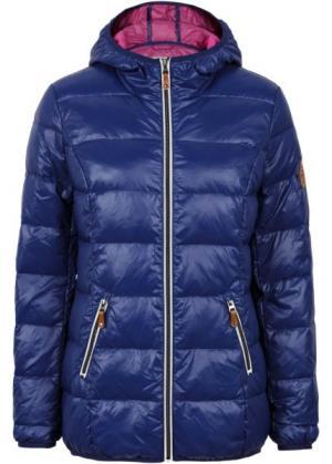 Пуховая куртка (синий/цвет фуксии) bonprix. Цвет: синий/цвет фуксии