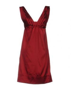 Короткое платье GIORGIA & JOHNS. Цвет: красно-коричневый