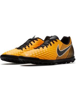 Шиповки MAGISTAX OLA II TF Nike. Цвет: оранжевый, белый, черный