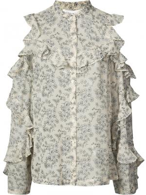 Sheer floral blouse Robert Rodriguez. Цвет: телесный