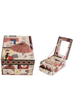 Шкатулка для украшений Русские подарки. Цвет: белый, красный, розовый